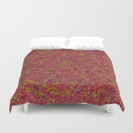 Tiny Circles - Red & Green Duvet Cover