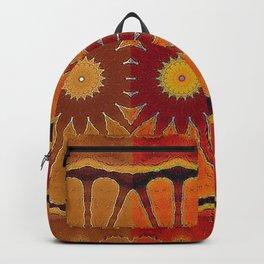 Orange flower pattern daisy Backpack