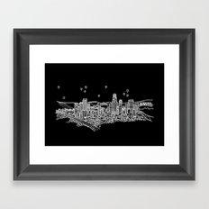 Los Angeles, California City Skyline Framed Art Print