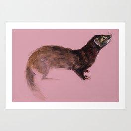 Save the european Mink !!! (FIEB) Realistic (c) 2017 Art Print