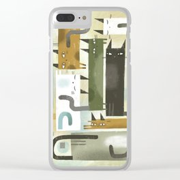 EARS EYES & TAILS Clear iPhone Case