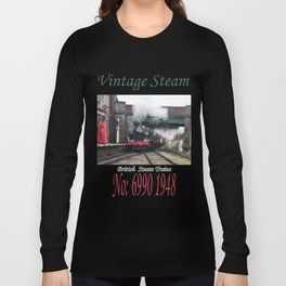 Vintage Steam Railway Train at the Station Long Sleeve T-shirt