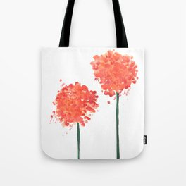 2 abstract geranium flowers Tote Bag