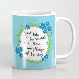 Ten Seconds - Blue Coffee Mug