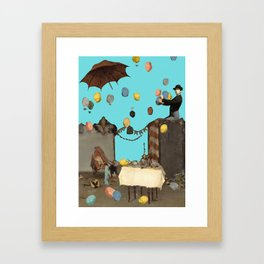 party lefovers - collage Framed Art Print