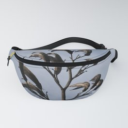 SCULPTURAL BLACK SEED HEADS Fanny Pack