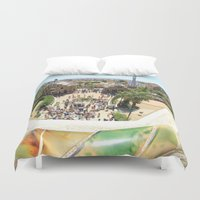 barcelona Duvet Covers featuring Barcelona by Marine Laborie