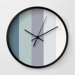Colors of the ocean in Winter Wall Clock