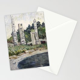 Emily Carr - Skedans  - Canada, Canadian Oil Painting - Group of Seven Stationery Cards