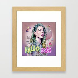 Hallo B*tch Framed Art Print