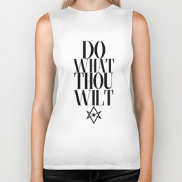 Do What Thou Wilt (Light) Biker Tank