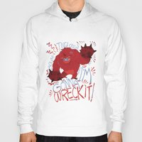 wreck it ralph Hoodies featuring Wreck-it Ralph (Scraped appearance) by Camille Dion-Bolduc