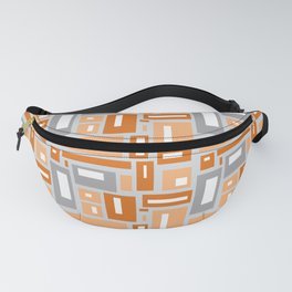 Simple Geometric Pattern in Peach and Gray Fanny Pack