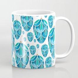 Turquoise Christmas Egg Decoration on White Coffee Mug
