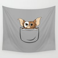 pocket Wall Tapestries featuring G pocket by Buby87