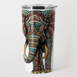 Ornate Elephant (Color Version) Travel Mug