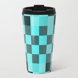 Blue Mood Pixel Travel Mug