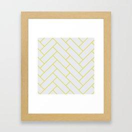 Green Herring Bone Pattern Framed Art Print
