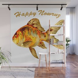 Elegant Happy Nowruz Goldfish Persian New Year Wall Mural