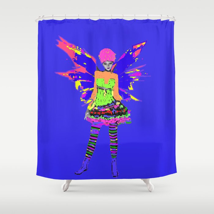 Fairy Punk Shower Curtain By Icarusismart