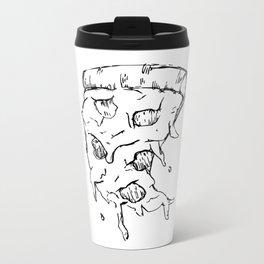 Flying Pizza Metal Travel Mug