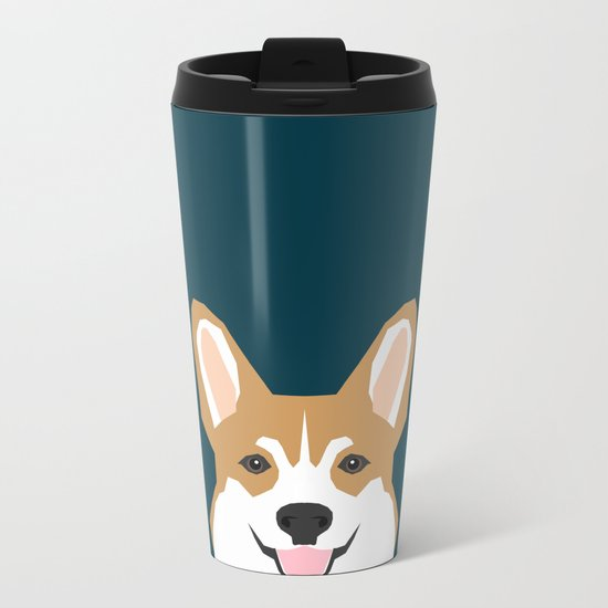 Teagan - Corgi Welsh Corgi gift phone case design for pet lovers and dog people Metal Travel Mug