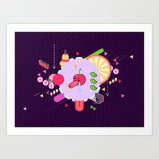 Tasty Visuals - Cherry Poppin' Art Print