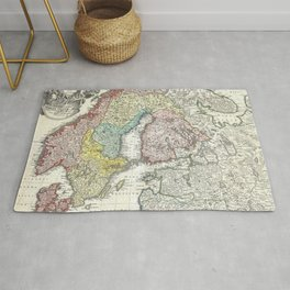 Map of Scandinavia, Norway, Sweden, Denmark and Finland Rug