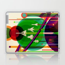 NASA Outer Space Saturn Shuttle Retro Poster Futuristic Explorer Laptop & iPad Skin
