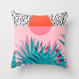 Whoa - palm sunrise southwest california palm beach sun city los angeles retro palm springs resort  Throw Pillow