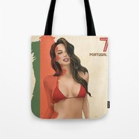 portugal Tote Bags featuring Portugal by Kingdom Of Calm - Print On Demand