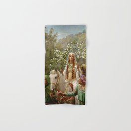 """John Collier """"Queen Guinevere's Maying"""" Hand & Bath Towel"""