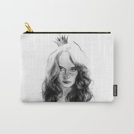 a princess. girl with a crown. drawing. Carry-All Pouch