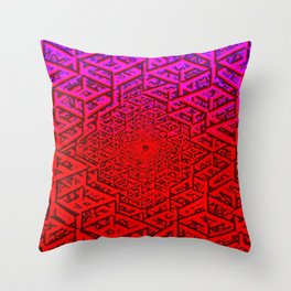 Hive Minded Raw Throw Pillow