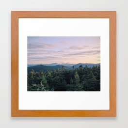 From the top of Mt. Pierce, NH Framed Art Print