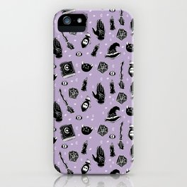 Witchy Magic on Purple iPhone Case