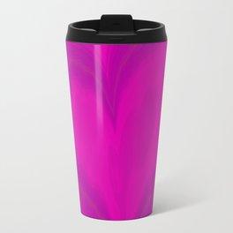 Valentines Day Purple Heart Glitch Pattern Travel Mug
