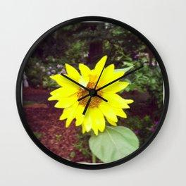 Winking Sunflower Wall Clock