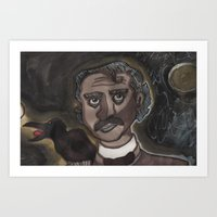edgar allen poe Art Prints featuring Edgar Allen Poe by Maurissa Vigil