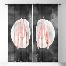 Cactus Nights Full Moon Starry Pink by Nature Magick Blackout Curtain