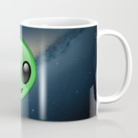 emoji Mugs featuring Alien Emoji by Nolan Dempsey