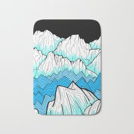 Antarctica mountains Bath Mat