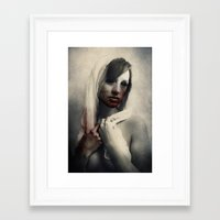 there will be blood Framed Art Prints featuring Blood by Digital Asylum (Josh Winton)