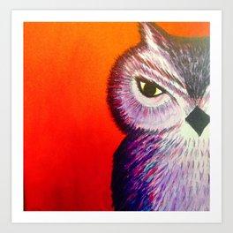 One Eye Owl Art Print