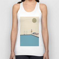 swimming Tank Tops featuring Swimming by Jarom Ward