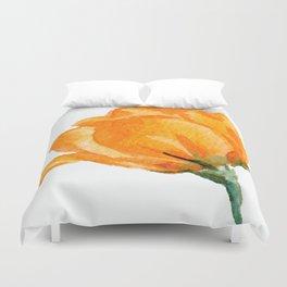 Orange Rose Duvet Cover