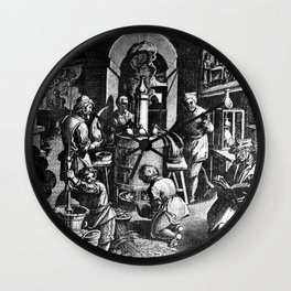 Alchemical Laboratory Wall Clock