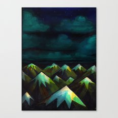 Night Mountains.  Canvas Print