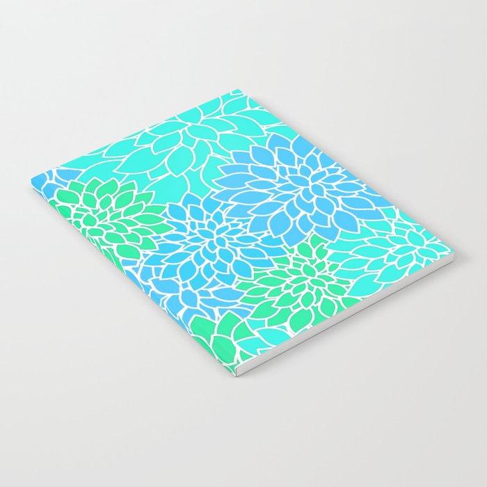 Blue & Green Pattern Notebook