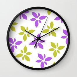 Illustration of flowers Wall Clock